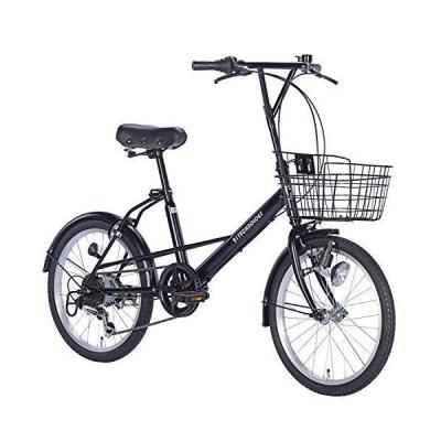 21Technology ミニベロ (20インチ) 小径車 シマノ6段変速ギヤ カゴ付き ミニ 自転車 変速 シティサイクル 街乗り 通勤