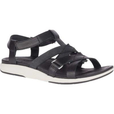 メレル Merrell レディース サンダル・ミュール シューズ・靴 Kalari Shaw Strap Sandal Black Full Grain Leather