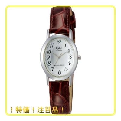 [シチズン Q&Q] 腕時計 アナログ 防水 革ベルト VZ89-304 レディース シルバー