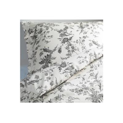 送料無料 IKEA イケア ALVINE KVIST アルヴィーネ クヴィスト #20172825 掛け布団カバー&枕カバー ホワイト×グレー