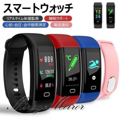 体温測定 温度計付き腕時計 スマートウォッチ 血中酸素濃度計 体温監視 心拍数 血圧計 日本語対応 日本語説明書 着信通知 メンズ レディース 健康管理 多機能