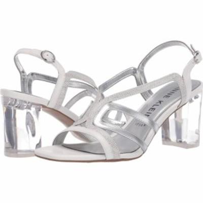 アン クライン Anne Klein レディース サンダル・ミュール シューズ・靴 Halona White/Silver