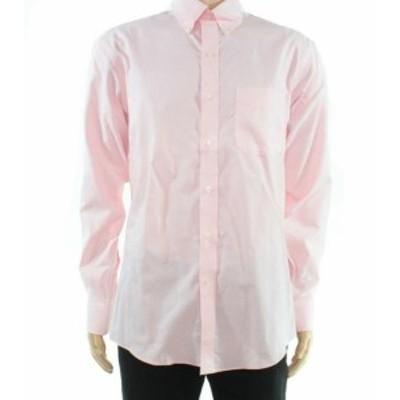 ファッション アウター Club Room Mens Shirt Pink Size Medium M Long Sleeve Button Down