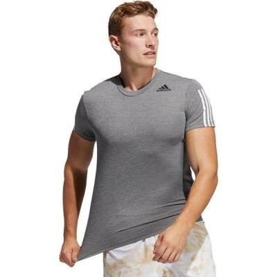 アディダス Adidas メンズ Tシャツ トップス Heat Ready Aero 3S T - Shirt Grey Three