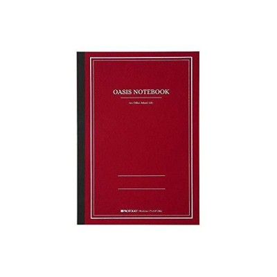 Itoya Profolio, Oasis Notebook, Brick Red, Large B5, 6.9 x 9.8 inches, OA-L