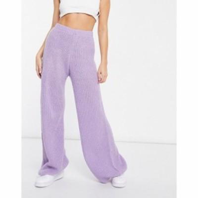アイソウイットファースト I Saw It First レディース ボトムス・パンツ Knitted Trousers In Lilac ライラック