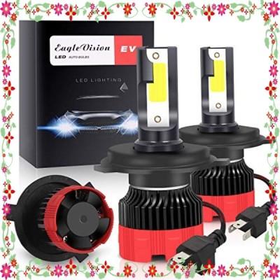 Zmoon LEDヘッドライト h4 車検対応 H4 Hi/Lo LEDバルブ LEDフォグランプ 高輝度 6500K 9-30V 8000LM IP65防水 冷却ファン 車/