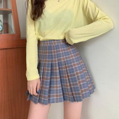 チェック柄スカート ミニスカート プリーツスカート 学生