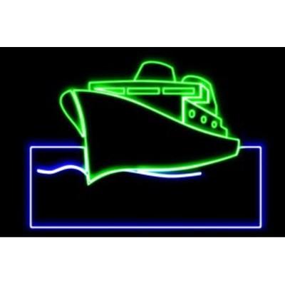 【ネオン】船【2】【ふね】【舟】【シップ】【乗り物】【ship】【海】【アイコン】【イラスト】【ネオンライト】【電飾】【LED】【ライト