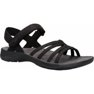 テバ レディース サンダル シューズ Women's Teva Elzada Leather Sandal Black Leather