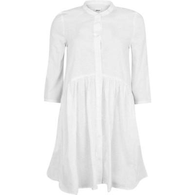 オンリー Only レディース ワンピース デニム ワンピース・ドレス Chicago Denim Dress White