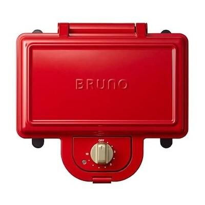 BRUNO ブルーノ ホットサンドメーカー ダブル BOE044-RD レッド イデアインターナショ