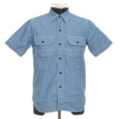 JELADO ジェラード 半袖 ワークシャツ サイズXS 綿100% メンズ インディゴ ブルー