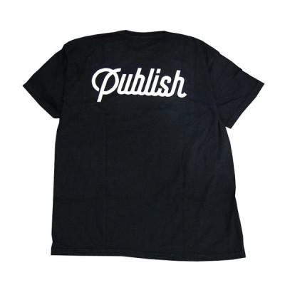 PUBLISH BRAND パブリッシュブランド Tシャツ ブラック SCRIPT pb19029011
