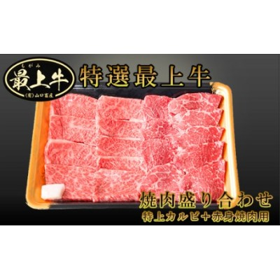 F019-005 最上牛焼肉盛合せ(特上カルビ200g+赤身焼肉用200g)