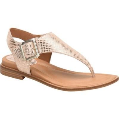 コンフォーティヴァ Comfortiva レディース サンダル・ミュール トングサンダル シューズ・靴 Dafney Thong Sandal Rose Gold Metallic Leather