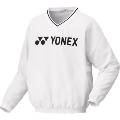 ヨネックス ユニセックス 裏地付ブレーカー(ホワイト・サイズ:SS) YONEX YO-32028-011-SS 返品種別A