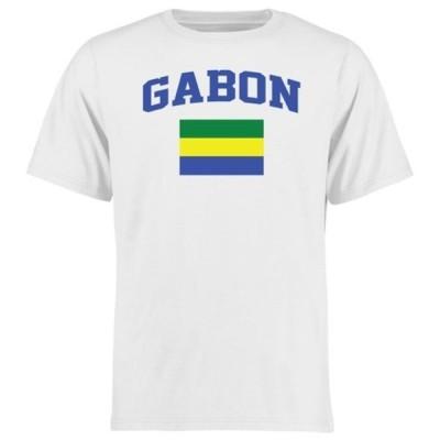 ファナティクス ブランデッド メンズ Tシャツ トップス Gabon Flag T-Shirt