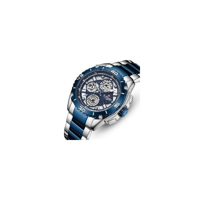 (ゴールド)NAVIFORCE 9179多機能ステンレス鋼ビジネススタイルメンズ腕時計防水クォーツ時計