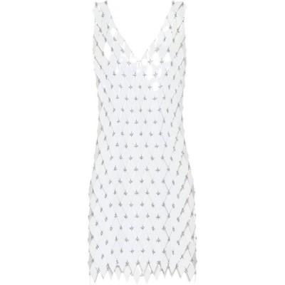 パコラバンヌ Paco Rabanne レディース ワンピース ワンピース・ドレス Chain-link minidress White