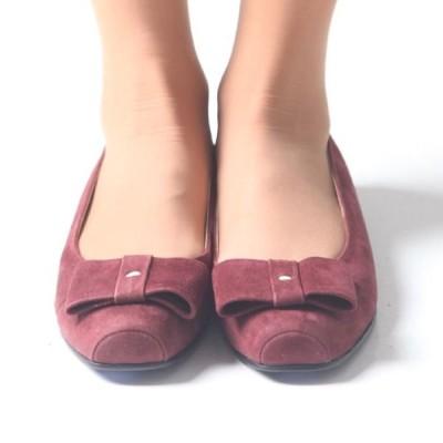 フラットシューズ リボン スクウェアトゥ パンプス ぺたんこ フラットシューズ 2015 春夏 新作 アリス レディース 婦人靴