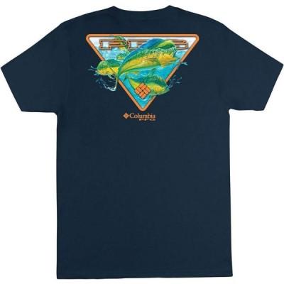コロンビア Columbia メンズ Tシャツ トップス Performance Fishing Gear Lipton Short Sleeve T-shirt Columbia Navy
