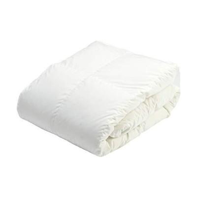 京都 西川 ダウンケット ダブル ベッド専用 日本製 抗菌加工 軽量生地 ダックダウン85% 0.5kg