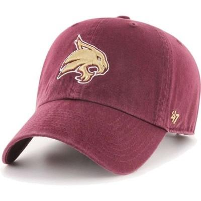 フォーティセブン 47 メンズ キャップ 帽子 Texas State Bobcats Maroon Clean Up Adjustable Hat