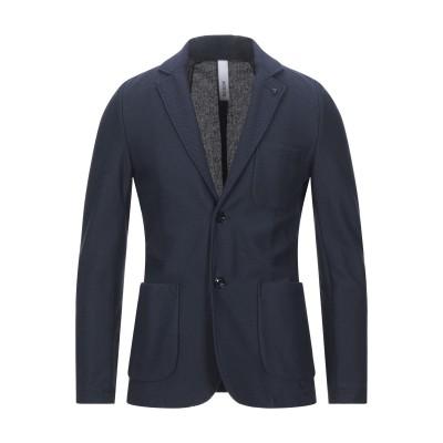 DISTRETTO 12 テーラードジャケット ダークブルー 46 コットン 80% / ポリエステル 20% テーラードジャケット