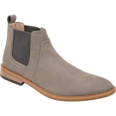 バンス Vance Co. メンズ ブーツ チェルシーブーツ シューズ・靴 Durant Chelsea Boot Grey Faux Leather