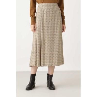 HUMAN WOMAN/ヒューマンウーマン ◆クラシックプリントスカート ベージュ3 S