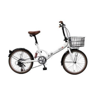 TOP ONE FS206LL-37-PW パールホワイト 折りたたみ自転車(20インチ・6段変速) メーカー直送