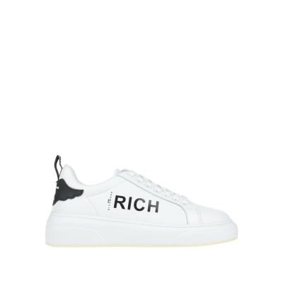 ジョン リッチモンド JOHN RICHMOND スニーカー&テニスシューズ(ローカット) ホワイト 36 革 / 紡績繊維 スニーカー&テニスシュ