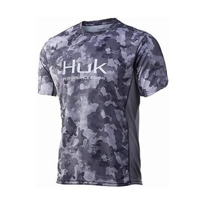HUK Icon X Camo シャツ LongSleeve Performance シャツ Storm XXLarge