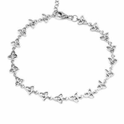 Silvershake 925 Sterling Silver Triquetra Celtic Knot 8 Plus 1.5 Inch Extension Bracelet