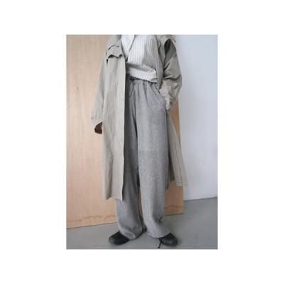 レディース パンツ chunky tencel banding pants