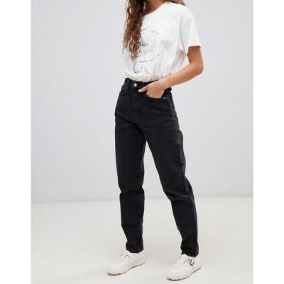 ウィークデイ Weekday レディース ジーンズ・デニム ボトムス・パンツ Rigid high waist mom jean with organic cotton in black ブラック