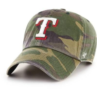 フォーティーセブン メンズ 帽子 アクセサリー '47 Men's Texas Rangers Camo Clean Up Adjustable Hat