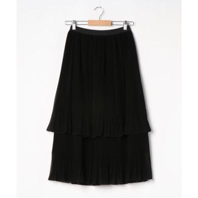 スカート クリスタルプリーツスカート