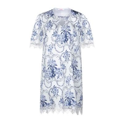 ブルーガール ブルマリン BLUGIRL BLUMARINE ミニワンピース&ドレス ホワイト 42 97% コットン 3% ポリウレタン ミニワン
