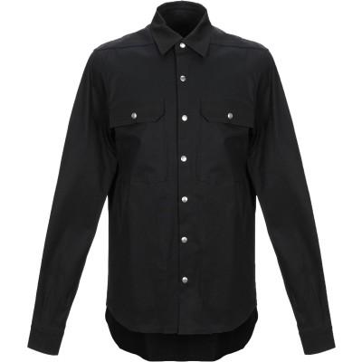 リック オウエンス RICK OWENS シャツ ブラック 48 コットン 97% / ポリウレタン 3% シャツ
