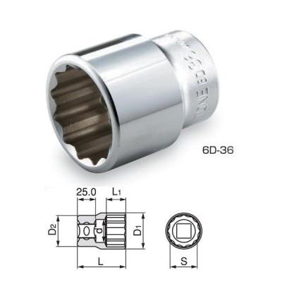 TONEソケットミリサイズ6D-22(22mm)