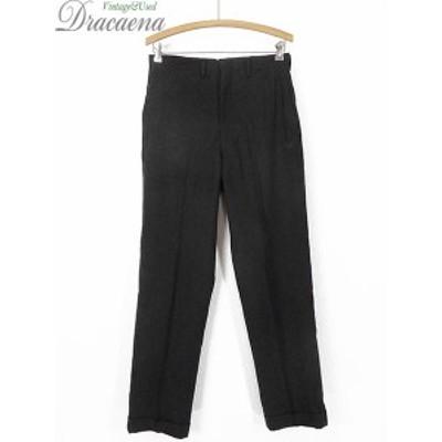 古着 パンツ 70s USA製 DIPLOMAT ソリッド ウール スラックス パンツ テーパード W29 L30 古着