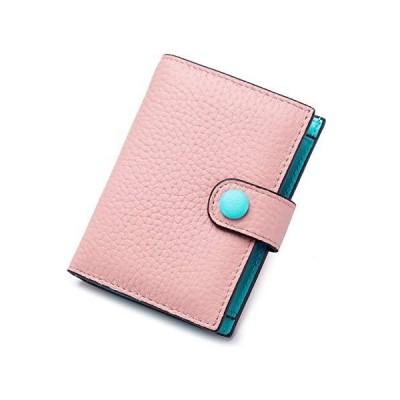 [imeetu]二つ折り財布 ボタン型 カードケース 小銭入れ お札入れ カードケース 写真入れ 本革 レディース メンズ