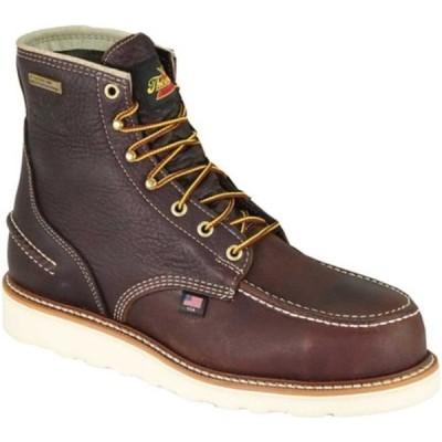 """ソログッド メンズ ブーツ&レインブーツ シューズ 6"""" 1957 Moc Steel Toe Boot 804-3600 Briar Pitstop Full Grain Leather"""