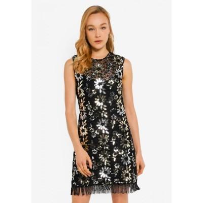 フレンチコネクション French Connection レディース パーティードレス ワンピース・ドレス Fia Lace Sparkle Sequin Dress SILVER/GOLD