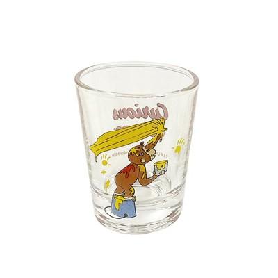 おさるのジョージ ミニグラス (絵の具黄色) 14692 グラス ショットグラス 子ども こども キッズ キャラクター グッズ キャラクター 雑貨