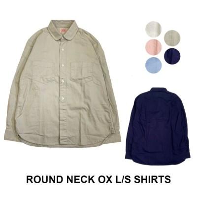 送料無料 BIG MIKE ビッグマイク オックスフォードシャツ ラウンドネック ワークシャツ 日本製 ROUND NECK OX L/S SHIRTS BIGMIKE 102135301