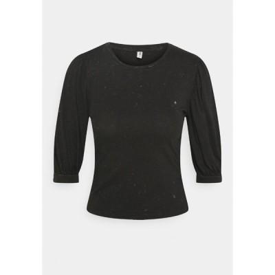 オンリー プティ カットソー レディース トップス ONLLUCILLA LIFE - Long sleeved top - black