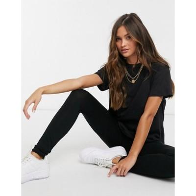 フェム リュクス レディース シャツ トップス Femme Luxe T-shirt and legging set in black